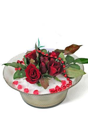 Gümüşhane kaliteli taze ve ucuz çiçekler  EN ÇOK Sevenlere 7 adet kirmizi gül mika yada cam tanzim