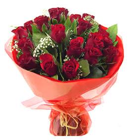 Gümüşhane çiçek gönderme sitemiz güvenlidir  11 adet kimizi gülün ihtisami buket modeli