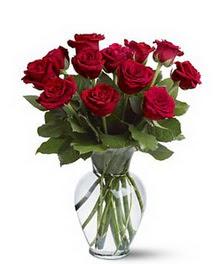Gümüşhane çiçekçiler  cam yada mika vazoda 10 kirmizi gül
