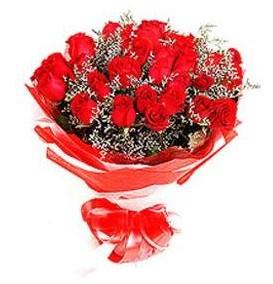 Gümüşhane çiçek satışı  12 adet kırmızı güllerden görsel buket