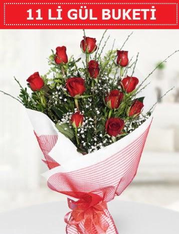 11 adet kırmızı gül buketi Aşk budur  Gümüşhane çiçekçiler