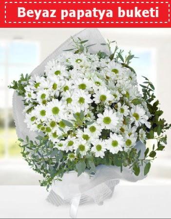 Beyaz Papatya Buketi  Gümüşhane İnternetten çiçek siparişi