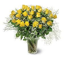 Gümüşhane hediye sevgilime hediye çiçek  15 adet sarigül mika yada cam vazoda