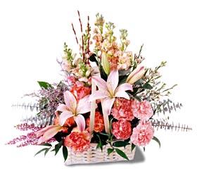 Gümüşhane hediye sevgilime hediye çiçek  mevsim çiçekleri sepeti özel tanzim