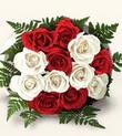 Gümüşhane cicekciler , cicek siparisi  10 adet kirmizi beyaz güller - anneler günü için ideal seçimdir -