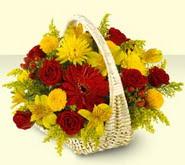 Gümüşhane İnternetten çiçek siparişi  sepette mevsim çiçekleri