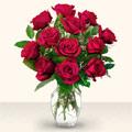 Gümüşhane internetten çiçek siparişi  10 adet gül cam yada mika vazo da