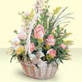Gümüşhane İnternetten çiçek siparişi  sepette pembe güller
