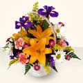 Gümüşhane İnternetten çiçek siparişi  sepet içinde karisik çiçekler