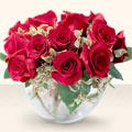 Gümüşhane çiçek gönderme  mika yada cam içerisinde 10 gül - sevenler için ideal seçim -