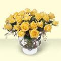 Gümüşhane online çiçek gönderme sipariş  11 adet sari gül cam yada mika vazo içinde