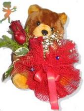 oyuncak ayi ve gül tanzim  Gümüşhane çiçek servisi , çiçekçi adresleri