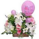 balon ve çiçeklerle tanzim  Gümüşhane çiçek online çiçek siparişi