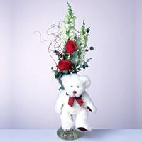 2 adet gül ve panda özel  Gümüşhane anneler günü çiçek yolla
