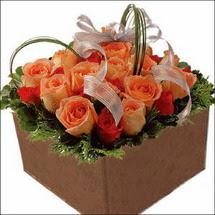 kare sandikta 11 gülllerden   Gümüşhane anneler günü çiçek yolla