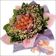 11  adet  gül ve   elyaflar   Gümüşhane anneler günü çiçek yolla