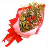 12 adet renkli  gül buketi   Gümüşhane anneler günü çiçek yolla
