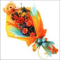 ayicik gül ve kir çiçekleri   Gümüşhane anneler günü çiçek yolla