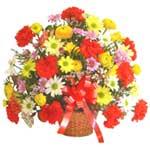 karisik renkli çiçek sepet   Gümüşhane çiçekçiler