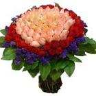 71 adet renkli gül buketi   Gümüşhane uluslararası çiçek gönderme