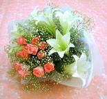 Gümüşhane internetten çiçek siparişi  lilyum ve 7 adet gül buket