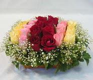 15 adet reprenkli gül sepeti   Gümüşhane internetten çiçek siparişi