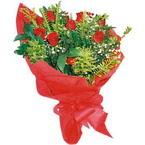 10 adet kirmizi gül buketi  Gümüşhane internetten çiçek siparişi