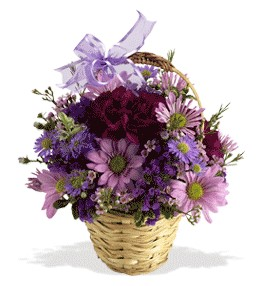 Gümüşhane çiçek yolla , çiçek gönder , çiçekçi   sepet içerisinde krizantem çiçekleri