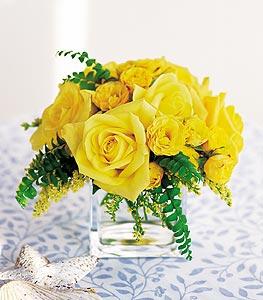 Gümüşhane online çiçekçi , çiçek siparişi  cam içerisinde 12 adet sari gül