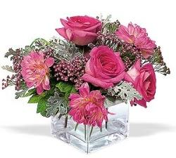 Gümüşhane online çiçekçi , çiçek siparişi  cam içerisinde 5 gül 7 gerbera çiçegi