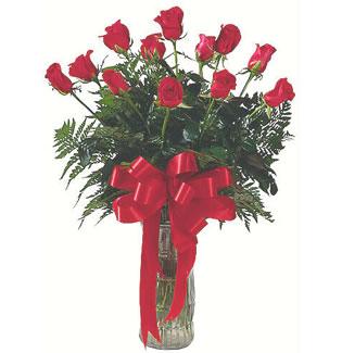 12 adet gül cam içerisinde  Gümüşhane online çiçekçi , çiçek siparişi