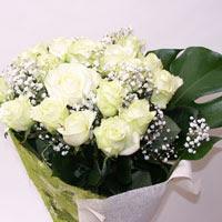 Gümüşhane 14 şubat sevgililer günü çiçek  11 adet sade beyaz gül buketi