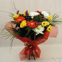 Gümüşhane 14 şubat sevgililer günü çiçek  Karisik mevsim demeti