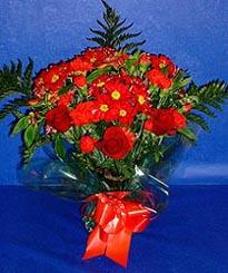 Gümüşhane 14 şubat sevgililer günü çiçek  3 adet kirmizi gül ve kir çiçekleri buketi