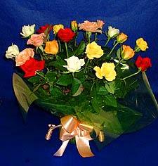Gümüşhane 14 şubat sevgililer günü çiçek  13 adet karisik renkli güller