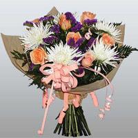 güller ve kir çiçekleri demeti   Gümüşhane çiçek servisi , çiçekçi adresleri