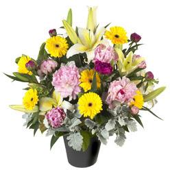 karisik mevsim çiçeklerinden vazo tanzimi  Gümüşhane çiçek yolla , çiçek gönder , çiçekçi
