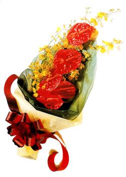 özel 5 adet antorium buketi   Gümüşhane çiçekçiler