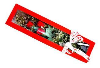 Gümüşhane 14 şubat sevgililer günü çiçek  Kutuda 3 adet gül