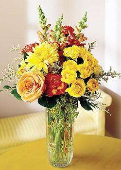 Gümüşhane İnternetten çiçek siparişi  mika yada cam içerisinde karisik mevsim çiçekleri