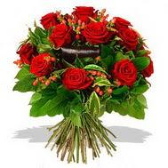 9 adet kirmizi gül ve kir çiçekleri  Gümüşhane çiçek online çiçek siparişi