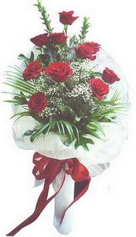 Gümüşhane 14 şubat sevgililer günü çiçek  10 adet kirmizi gülden buket tanzimi özel anlara