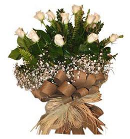 Gümüşhane online çiçek gönderme sipariş  9 adet beyaz gül buketi