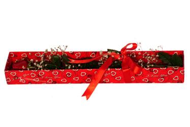 Gümüşhane online çiçek gönderme sipariş  kutu içerisinde 1 adet kirmizi gül