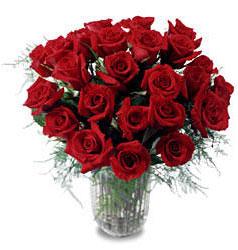 Gümüşhane çiçekçiler  11 adet kirmizi gül cam yada mika vazo içerisinde