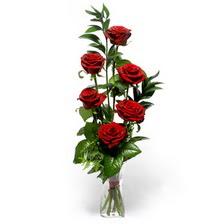 Gümüşhane çiçek yolla , çiçek gönder , çiçekçi   mika yada cam vazoda 6 adet essiz gül