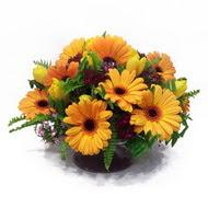 gerbera ve kir çiçek masa aranjmani  Gümüşhane kaliteli taze ve ucuz çiçekler