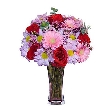 Görsel hediye karisik cam mevsim demeti  Gümüşhane anneler günü çiçek yolla