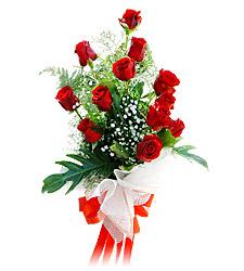 11 adet kirmizi güllerden görsel sölen buket  Gümüşhane kaliteli taze ve ucuz çiçekler