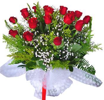 11 adet gösterisli kirmizi gül buketi  Gümüşhane çiçek online çiçek siparişi